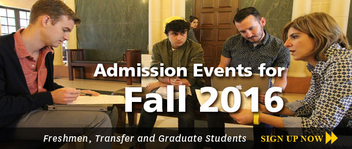 Fall 2016 Admission Events