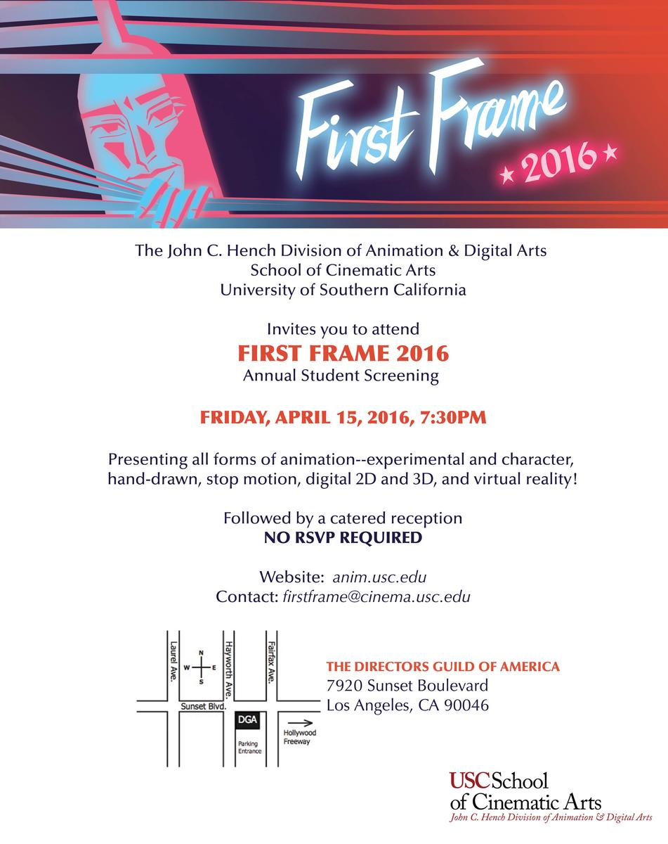 First Frame 2016 Annual Animation Showcase at the DGA Theatre in Hollywood