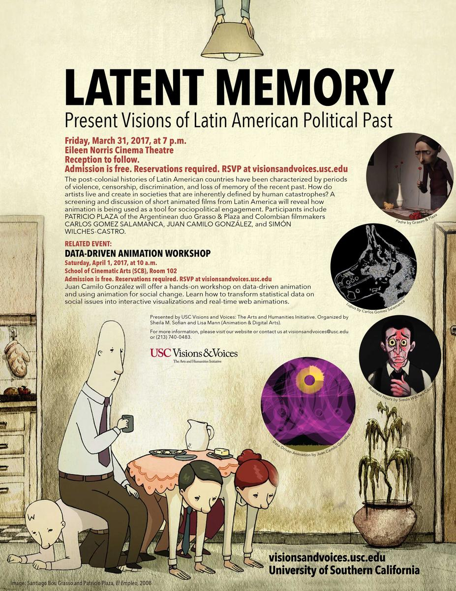 Latent Memory: Present Visions of Latin American Political Past screening, panel, workshop