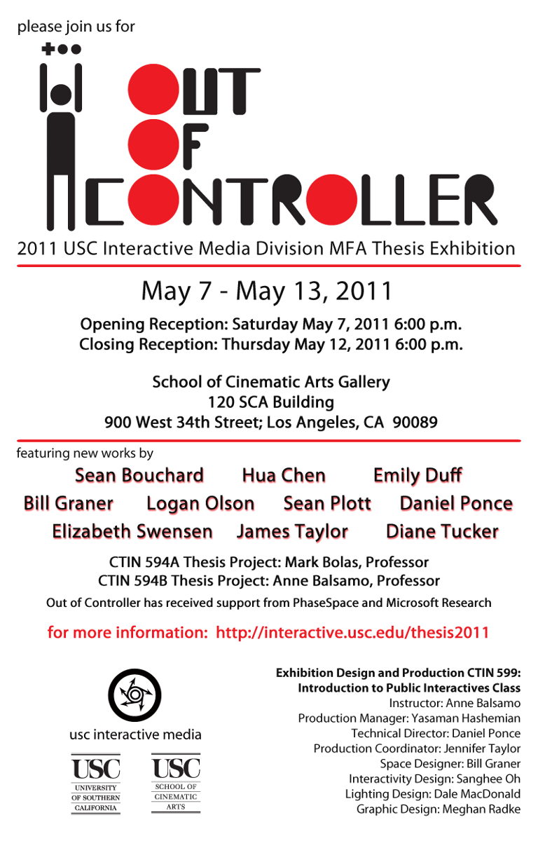 usc interactive media thesis show Women in virtual reality – the top women to watch  i went on to complete my masters at university of southern california in interactive media  to show a full.