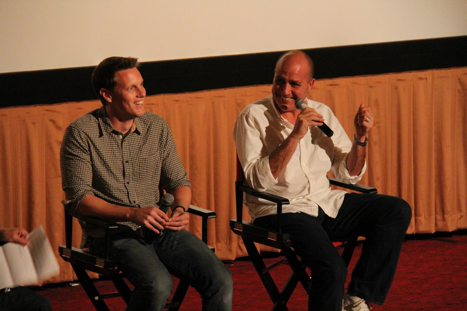 David Ellison (left) and Don Granger during post-screening Q&A